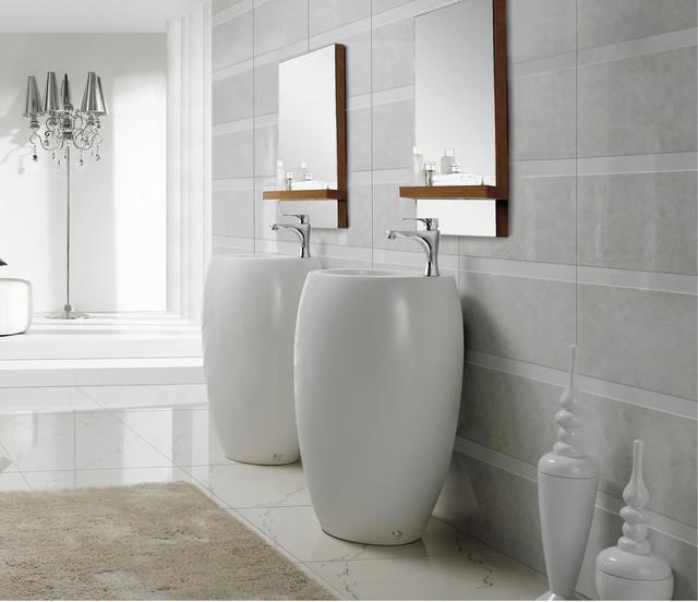 Bathroom Pedestal Sinks Part - 49: Modern Bathroom Pedestal Sink - Vinci Bathroom-sinks