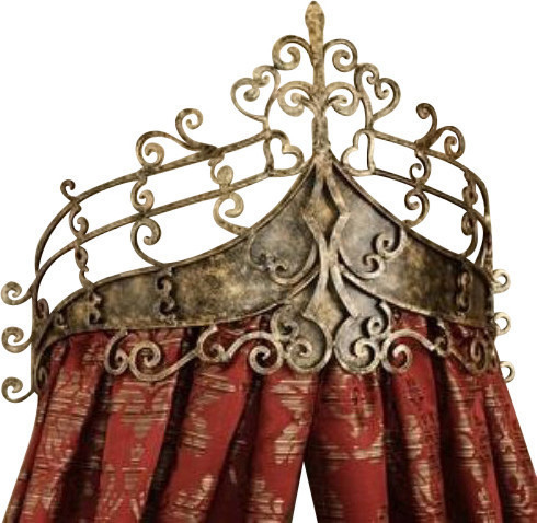 Victorian Scroll Wrought Iron Bed Crown, Baroque Tester Metal  Mediterranean Headboards  Dr Livingstone I Presume Furniture