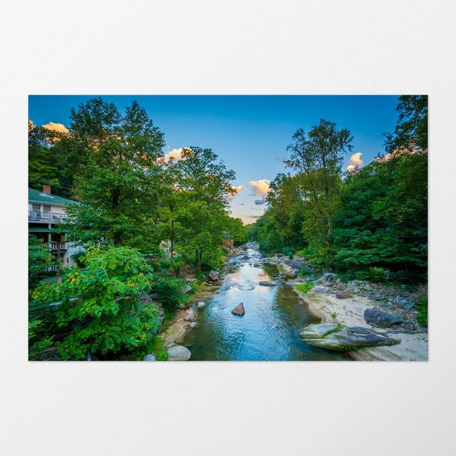 Chimney Rock North Carolina Art Print Rustic Prints