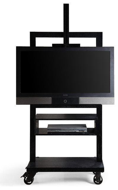 Haven Home Cullen Entertainment Tv Media Stand, Black.