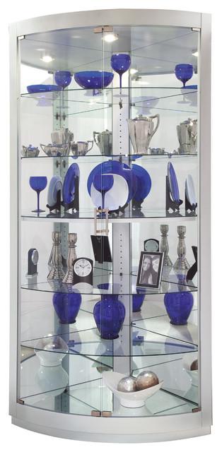 Howard Miller Gillian Ii Silver Curio Cabinet.