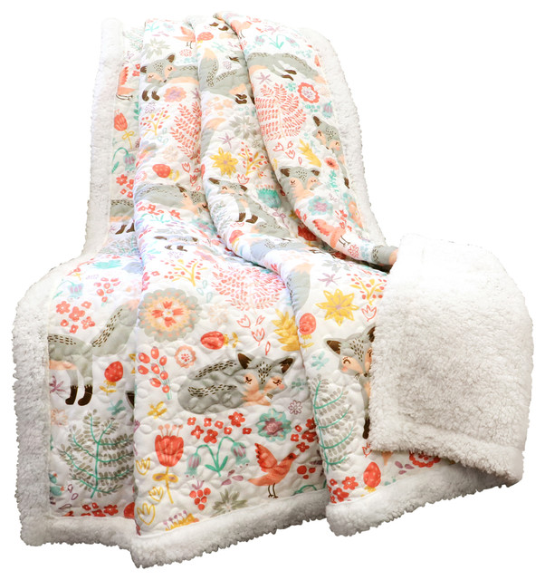 Sherpa Pixie Fox Contemporary Throws By Lush Decor