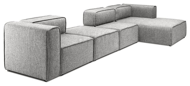 L Shaped 3 Seater Right Sectional Chaise Modern Sofa Bjorn