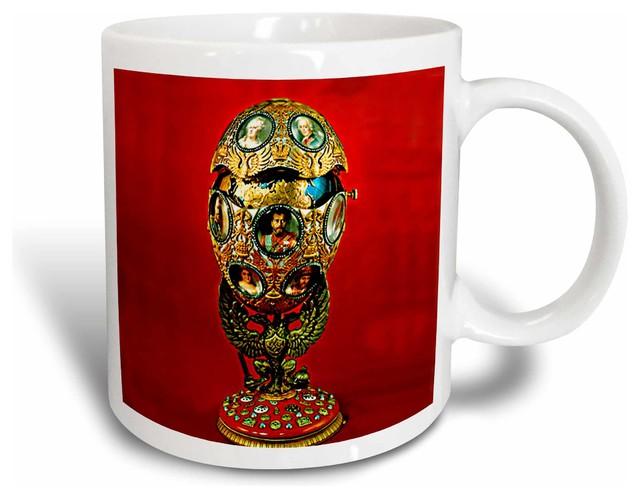 Faberge Egg Tercentenary Of Romanoffs House Mug Traditional Mugs By 3drose L L C