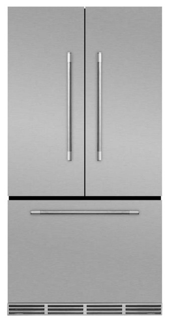 "36"" Marvel Mercury Series French Door Counter Depth Refrigerator, Stainless Stee."