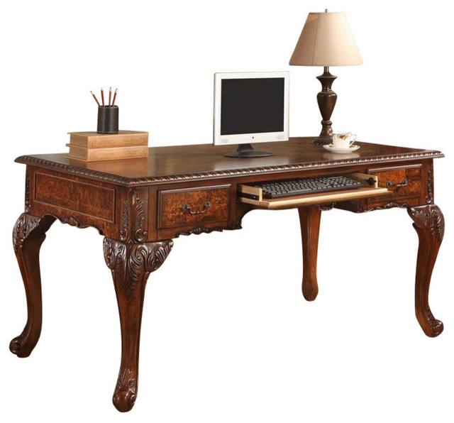 Office Desk With Hand Carved Designs