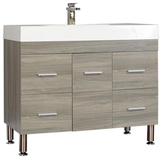 Fitchen Single Bathroom Vanity Set, Gray, 39.