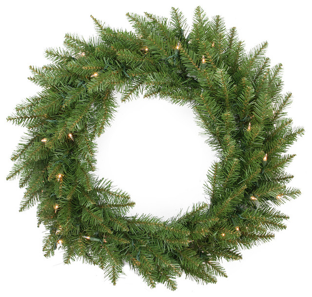 24 Essex Wreath, 160 Tips, 50 Clear Lights.
