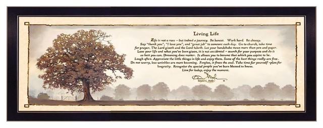 Bonnie Mohr Living Life Insprirational Art Print 22 x 28