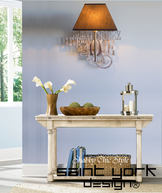 applique murale lumineuse avec abat jour et d coration bois patin shabby chic campagne. Black Bedroom Furniture Sets. Home Design Ideas