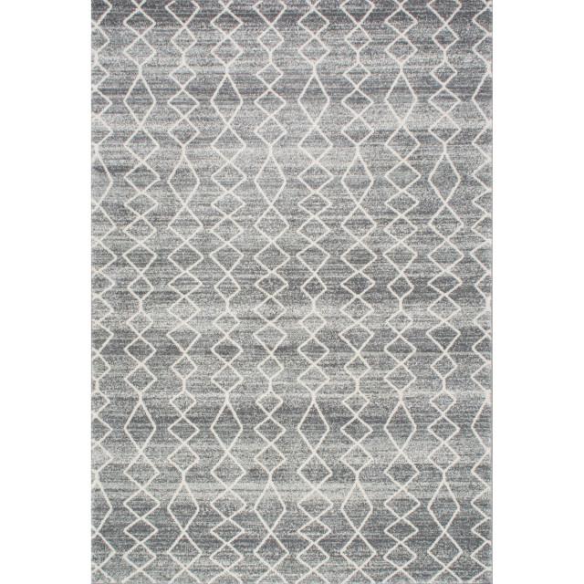 Bosphorus Moroccan Trellis Rug, Gray, 4'x6'