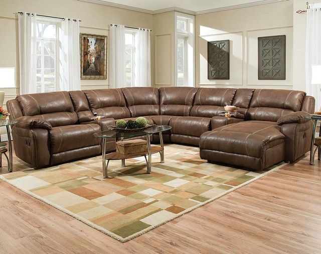 Renegade Mocha Reclining Sectional contemporary : american freight sectionals - Sectionals, Sofas & Couches