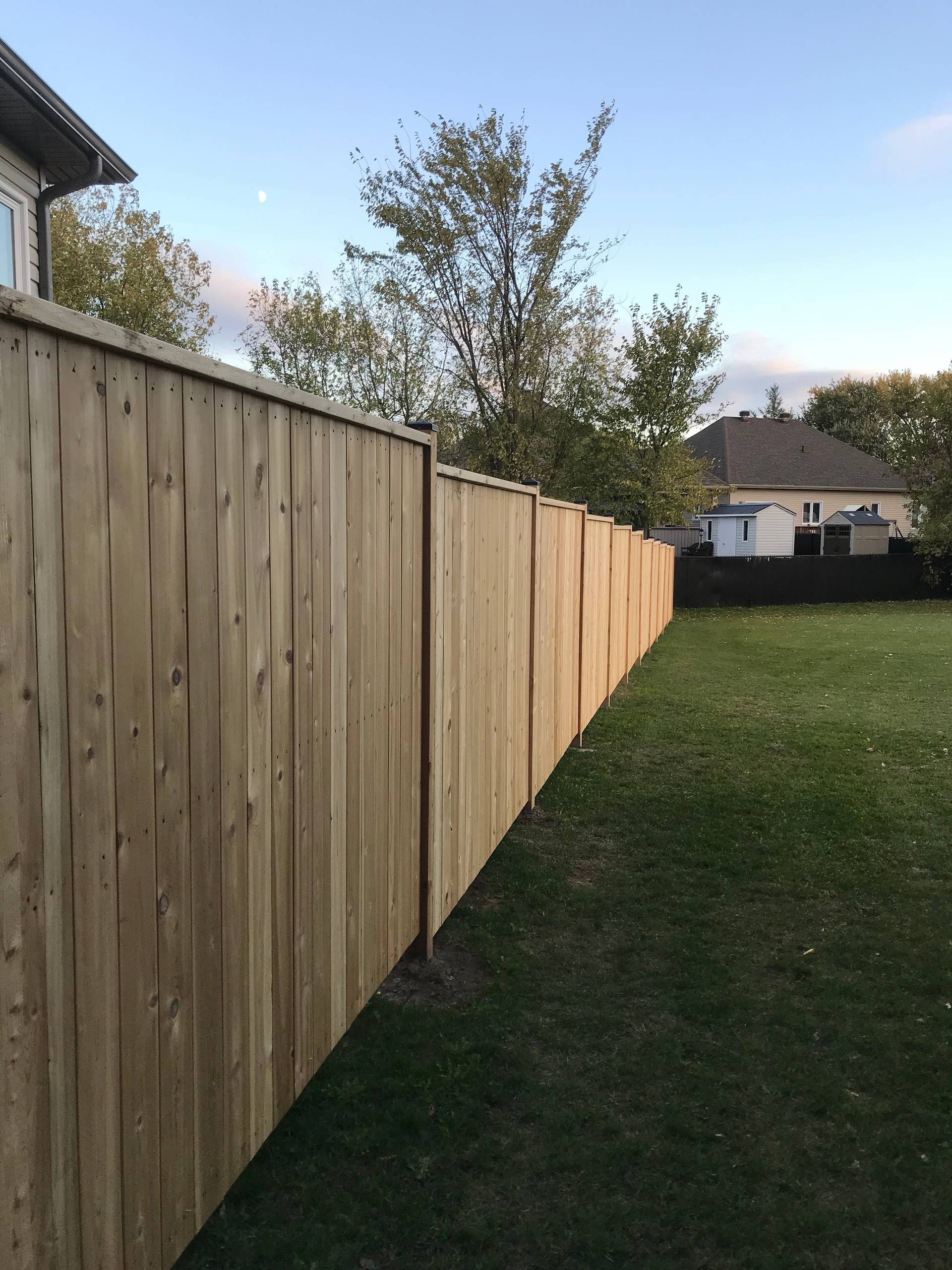 Cedar deck and fence project