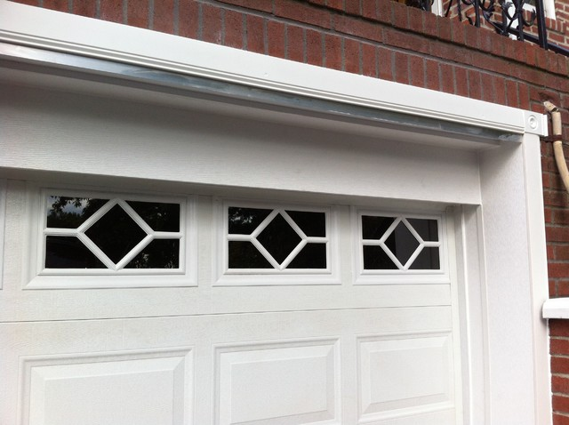 garage door trim pvc garage door trim traditional new york 10753