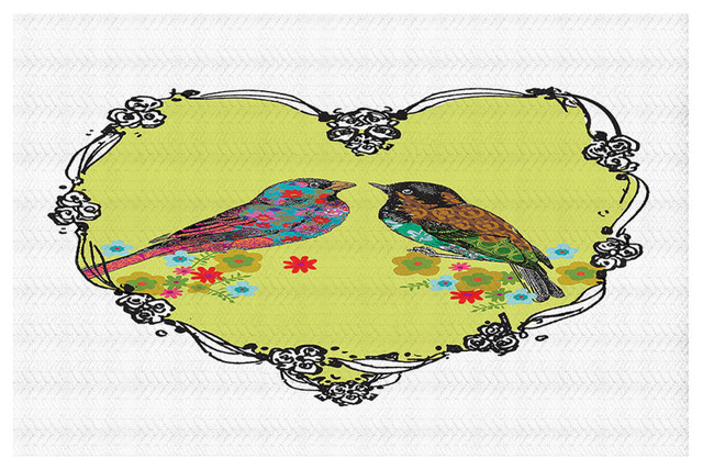Love Birds Area Rug, 37x22.5.