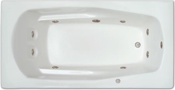Selena Drop-In Whirlpool Bathtub, Right Drain.