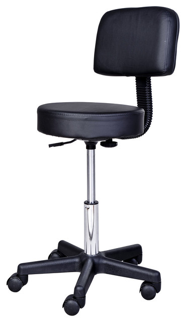 Terrific Homcom Adjustable Swivel Salon And Massage Stool Black Interior Design Ideas Tzicisoteloinfo