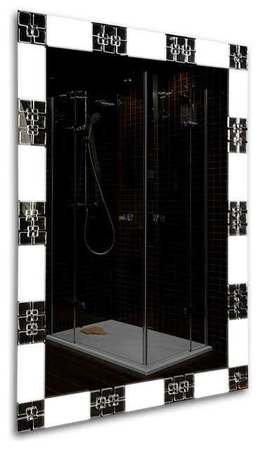31x23 Led Lighted Bathroom Mirror, Touch Button by Tilebay