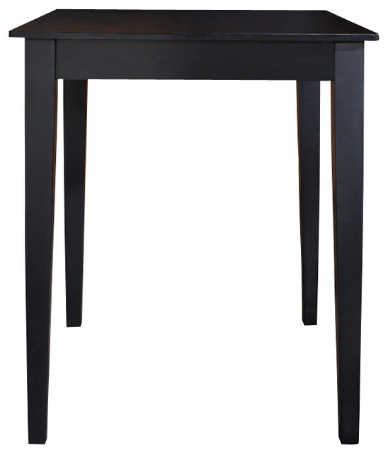 Tapered Leg Pub Table, Black.