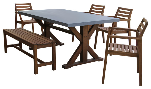 Outdoor Dining Sets, Concrete Top Patio Table