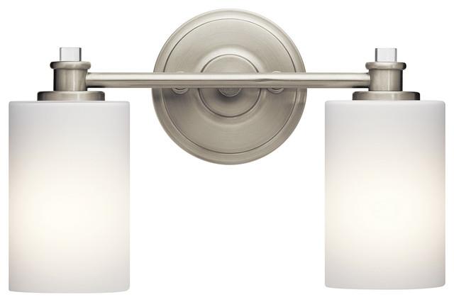 Cool  Bathroom Light In Brushed Nickel Transitionalbathroomvanitylighting