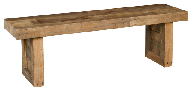 Kosas Home Norman Reclaimed Pine 55 Bench Natural Rustic Accent And Storage