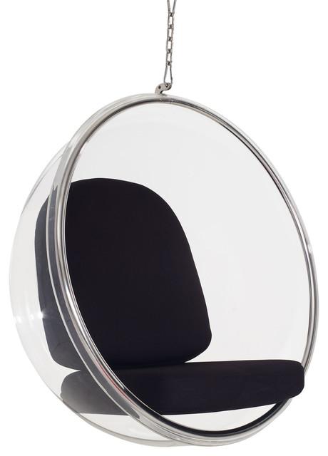 Ring Acrylic Lounge Chair, Black