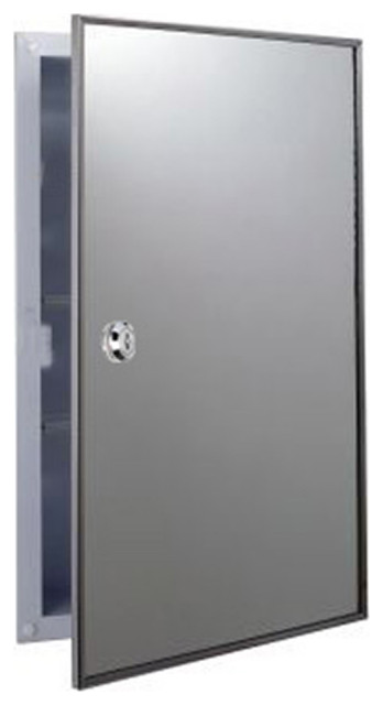 """Bright Annealed Stainless Steel Framed Lockable Medicine Cabinet 16""""x26"""""""