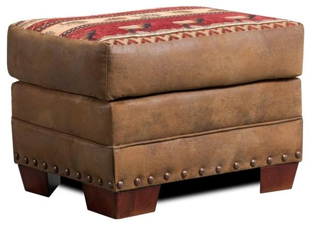 American Furniture Sierra Lodge Ottoman Rustic