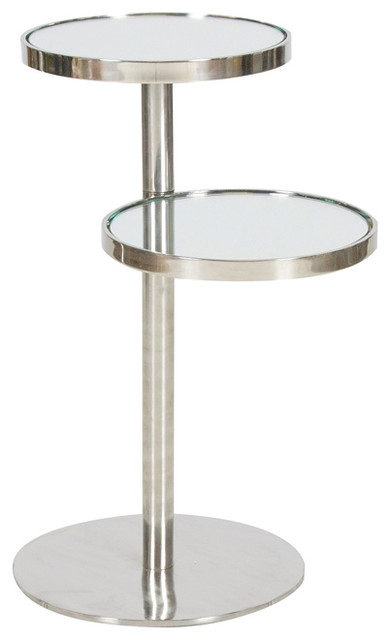 Swivel Side Table ~ Worlds away small swivel end table kyle contemporary