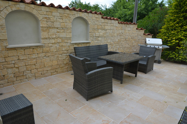 mediterrane terrasse mediterran sonstige von frank erbel mosaik. Black Bedroom Furniture Sets. Home Design Ideas
