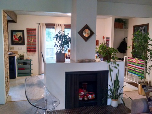 Centered Fireplace Open On Both Sides To Access Dining Area Off Kitchen The North