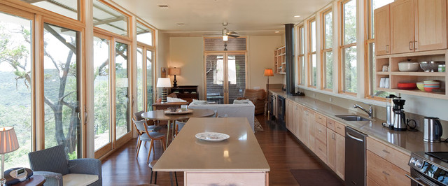 Lake Flato Porch House At Miller Ranch Contemporary Kitchen Austin By Lake Flato Architects