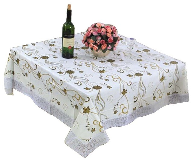 Fashionable Elegant Table Cloth/High End Large Square Dinner Tablecloths  Covers Contemporary Tablecloths