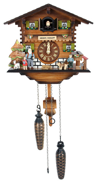 Engstler Battery Operated Cuckoo Clock Full Size Rustic