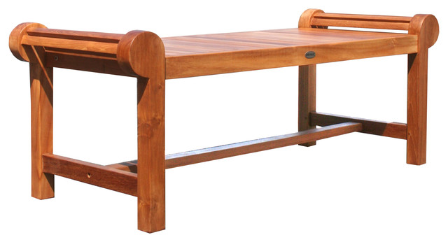 Teak Lutyens Backless Bench Outdoor Benches by Chic Teak