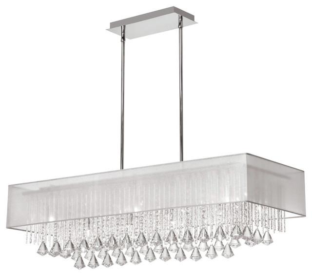 Dainolite Jac3610c Pc 819 10 Light Horizontal Crystal