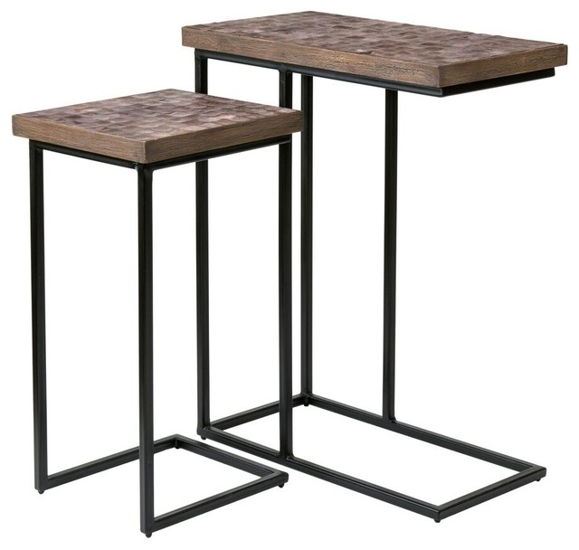 east at mainu0027s beloit brown rectangular coconut shell accent table modern sidetables
