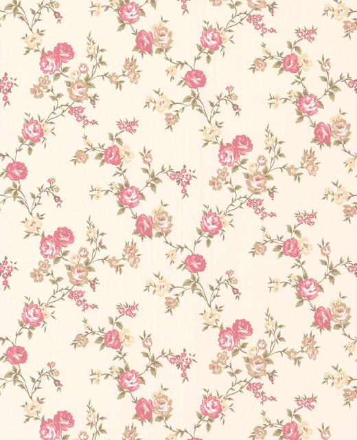 rose cottage wallpaper buttermilk pink