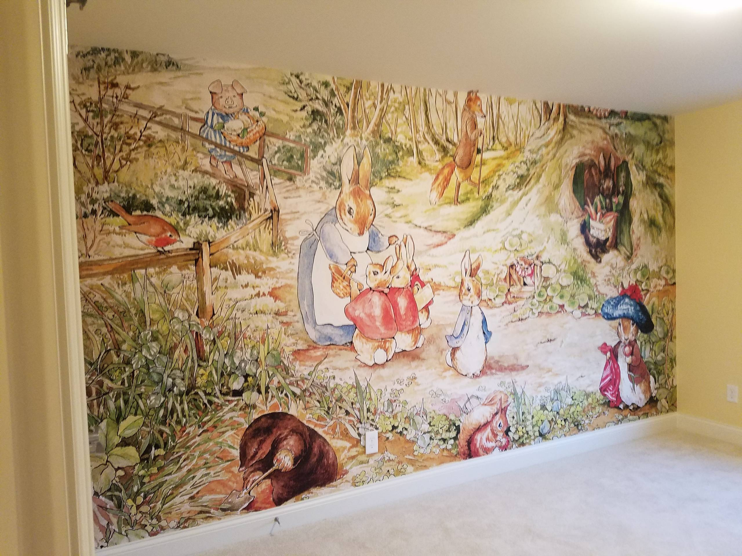 Install: Beatrix Potter Themed Nursery