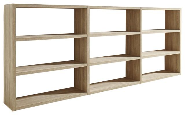 Torero Triple Shelf Sideboard, Oak
