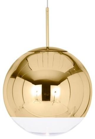 Mirror Ball Pendant Lamp, Gold, Medium