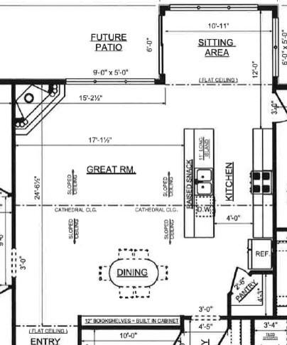 Kitchen layout help placement of refrigerator for Kitchen layout help