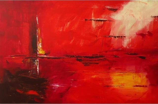 "Darco Arte ""riflesso 535"" Painting, 31""x47""."