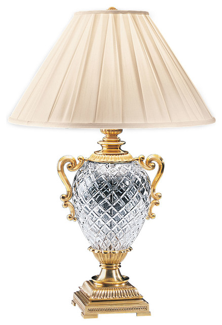 Decorative Crafts Brass And Crystal Table Lamp 5133