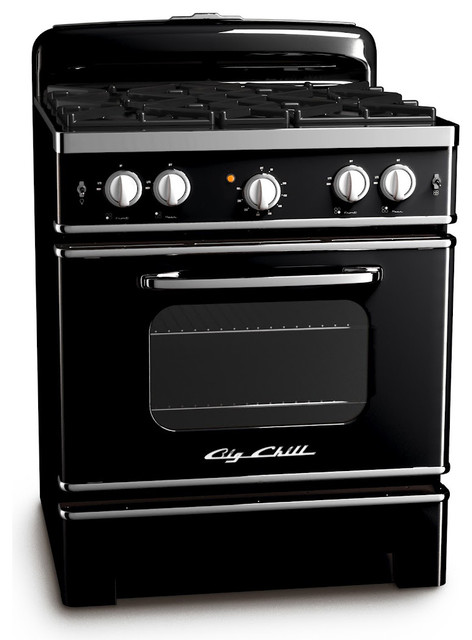 Electric Double Oven Slide In Range Big Chill Retro Stove - Midcentury - Gas Ranges And ...