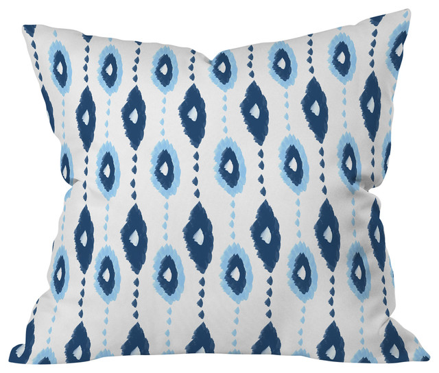 Allyson Johnson Authentic Blues 2 Outdoor Throw Pillow, Large