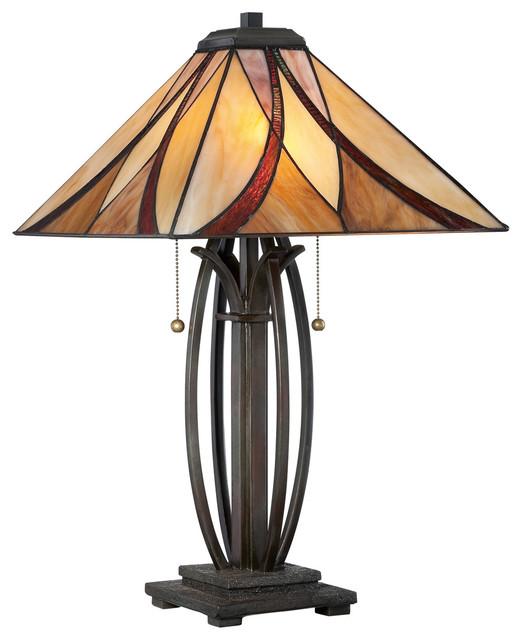 Asheville 2-Light Table Lamps, Valiant Bronze.