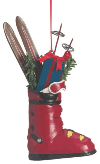 Ski Boot With Gifts Christmas Tree Ornament - Traditional ...
