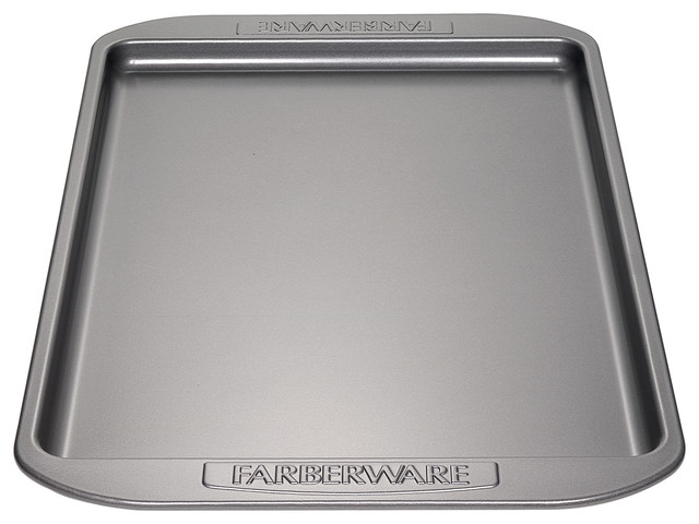 Farberware Nonstick Bakeware 10-Inch X 15-Inch Cookie Pan, Gray.